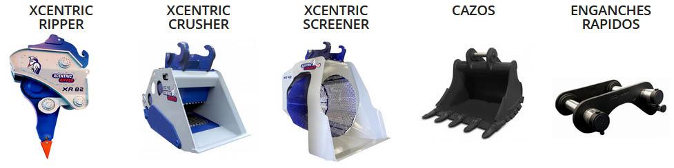 muestra gama productos Xcentric distribuidos por BYG
